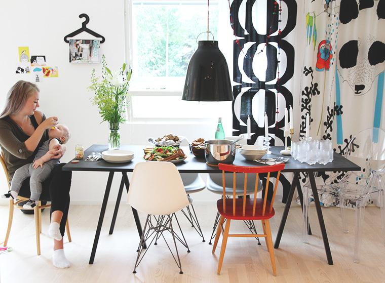 essi syottaa einoa hay loop stand hunajaista blogi sisustus interior decoration kitchen marimekko eames caravaggio