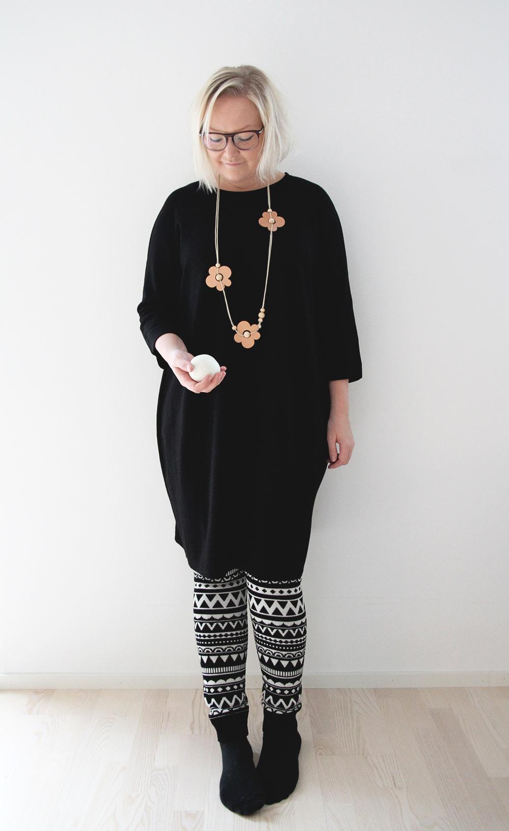 riikka hunajaista marimekko aarikka everyday design lumipallo uhana design legginsit muoti fashion tyyliblogi