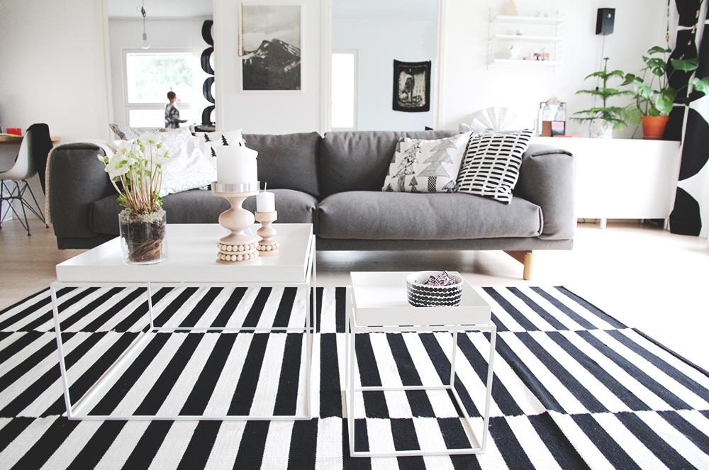 hunajaista sisustusblogi muuto sohva rest design hay tarjotinpoyta eames string aarikka