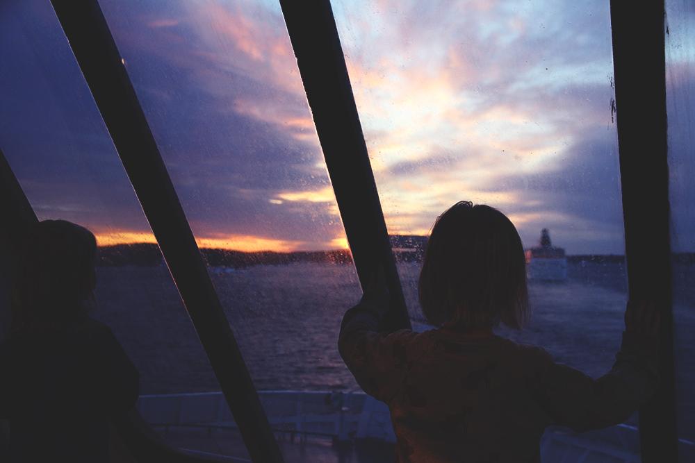 auringonnousu laivalla gabriella hunajaista viking line