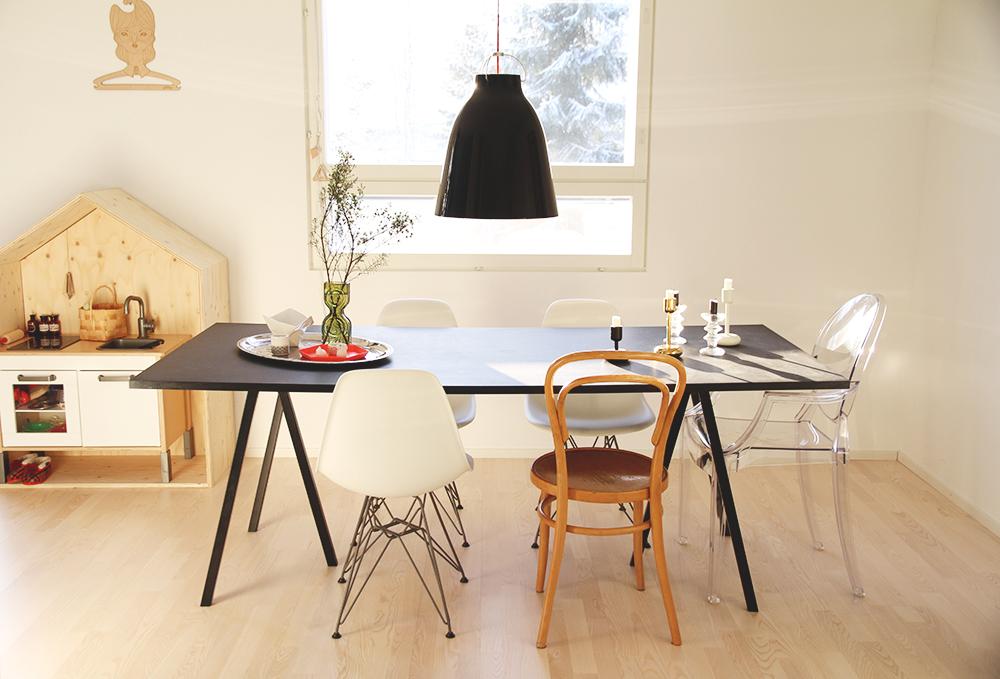 auringonvalo hunajaista ruokailutila keittio kitchen scandinavian home
