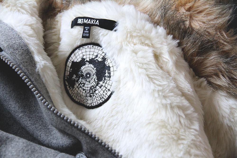 makia takki lapset lastenvaatteet talvitakki huopa karvahuppu raglan parka clothing
