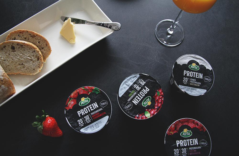 arla ingman proteiinirahka hunajaista blogi