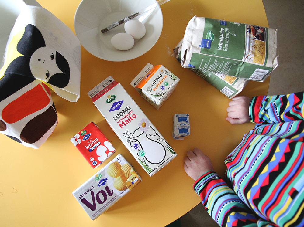 hunajaista arla laskiaispullat helpot luomutuotteet maito kerma voi
