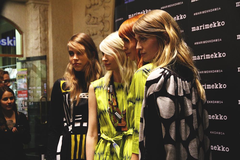 hunajaista marimekkoaw14 helsingin rautatieasema vr fashion runway blog