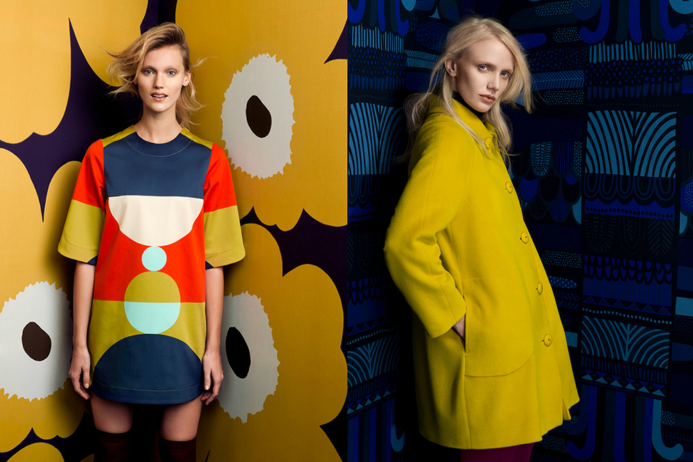 look book kuvat marimekko hunajaista fall winter collection fashion