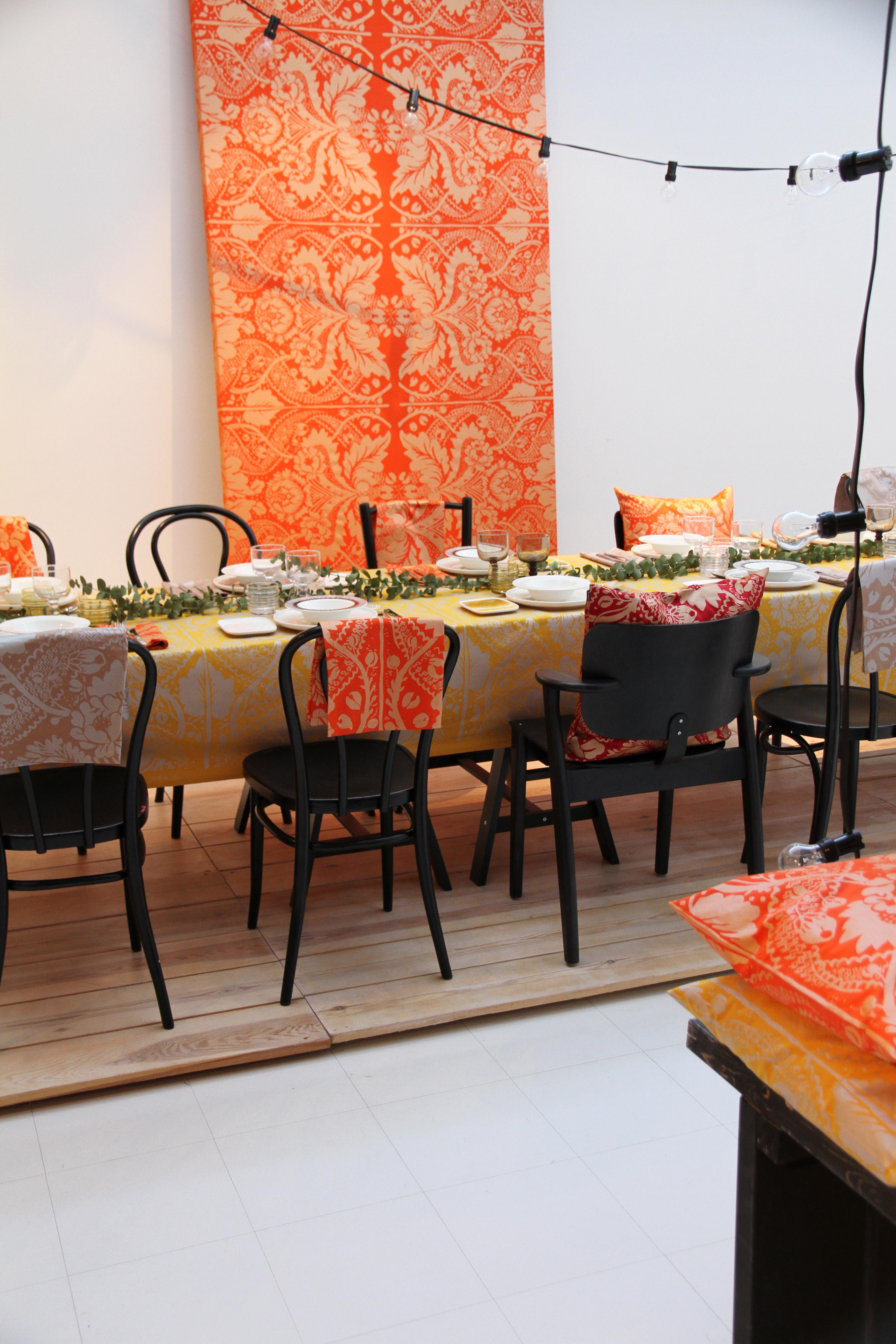 hunajaista sisustusblogi marimekko 2014 joulu syksy mallisto kattaus ruokailutila