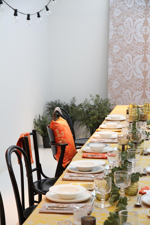 marimekko joulukattaus sisustus ruokailutila kankaat vinkki hunajaista blogi