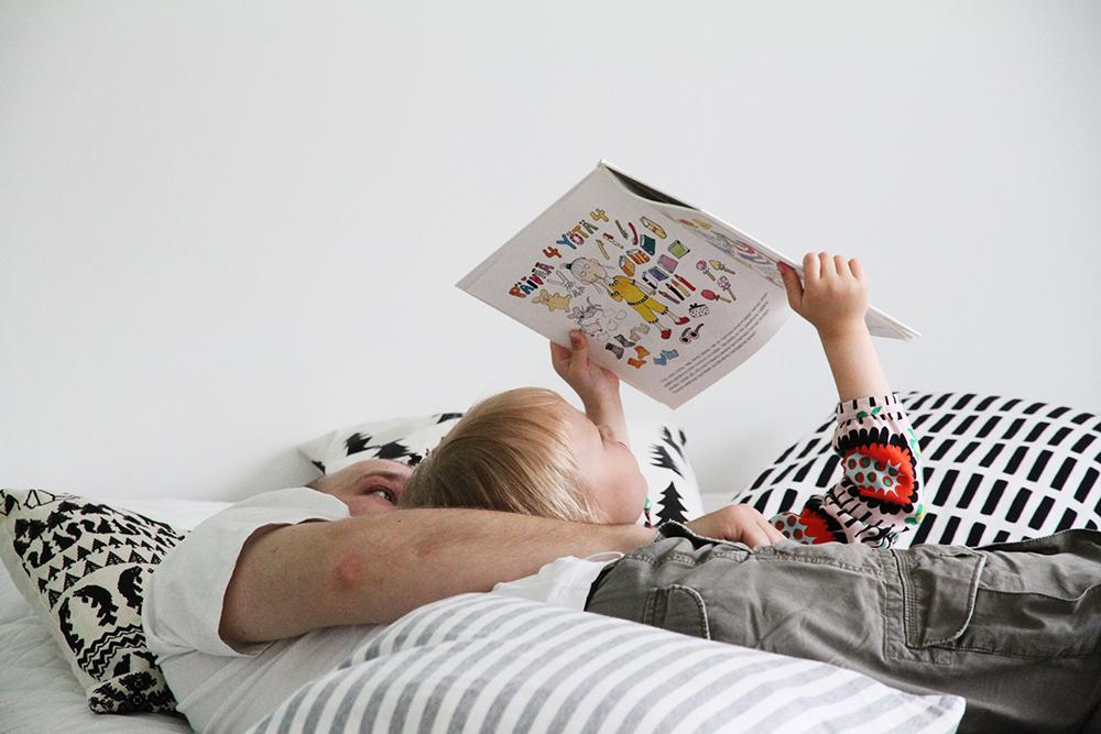 hunajaista minttu kirja siiri lukee makuuhuone
