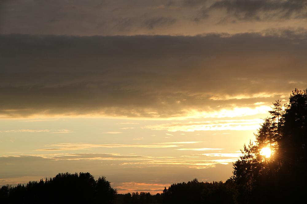hunajaista auringonlasku juhannus 2014 kitee orivesi