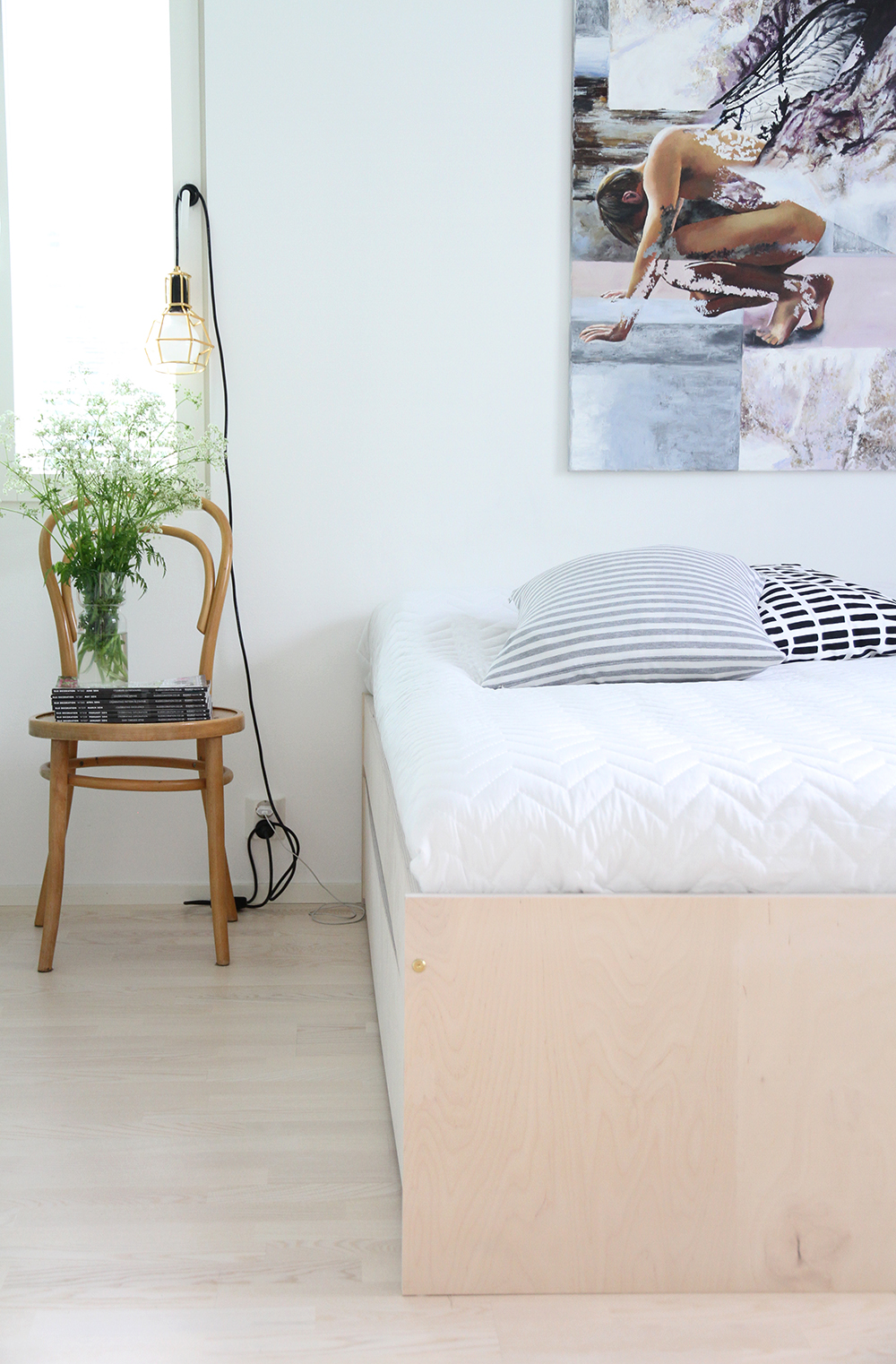 hunajaista makuuhuone bedroom avaroom vanerisanky work lamp