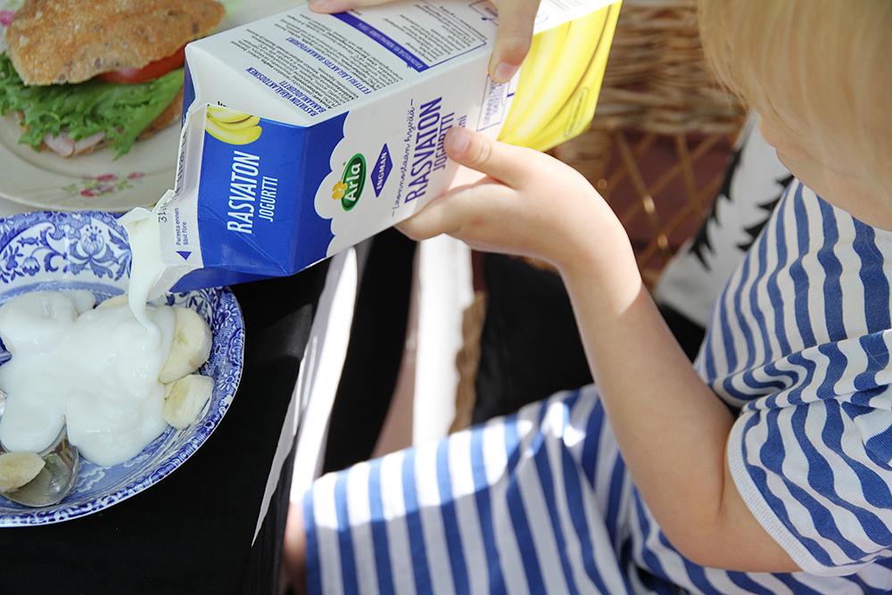 hunajaista arla jogurtti banaani rasvaton siiri marimekko mokilla