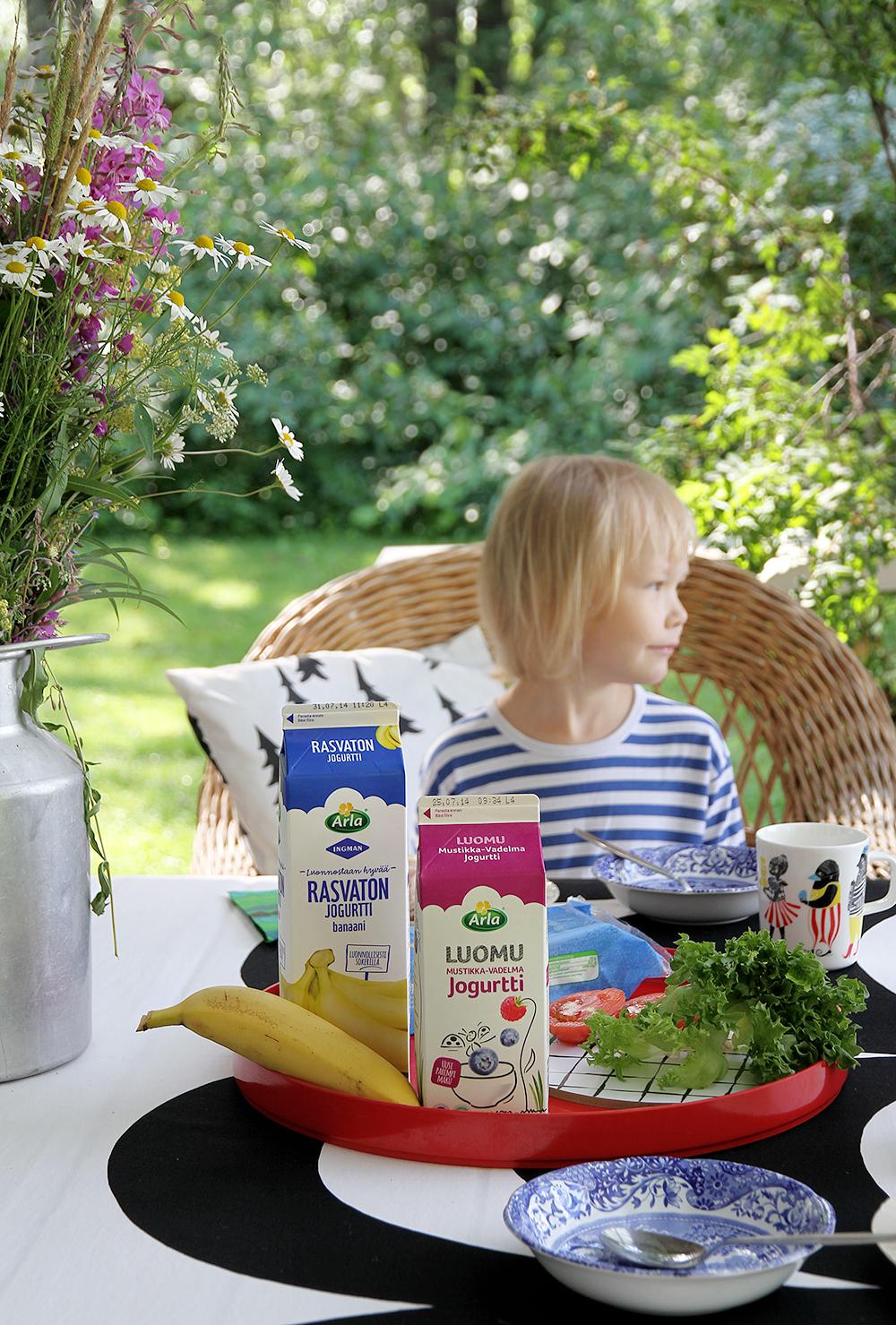 hunajaista mokilla aamiaiskutsu jogurtit arla