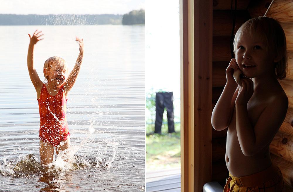hunajaista siiri ui sauna