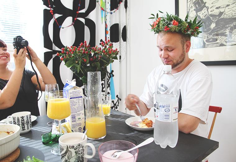 ville kukkaseppele hunajaista blogi ruokailutila kitchen hangover darra krapula