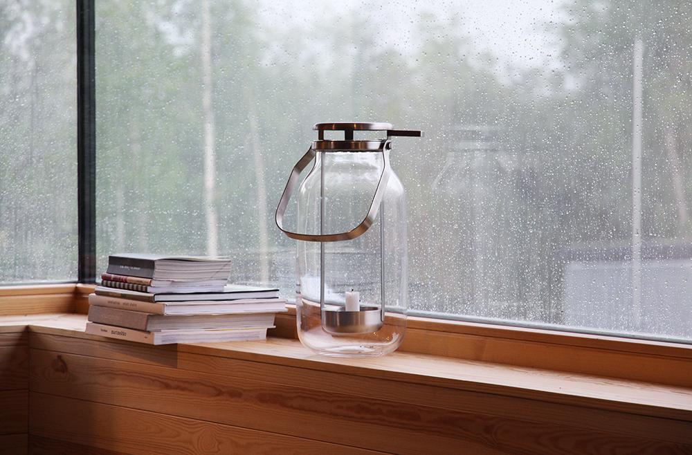 hunajaista skammin talo sateella asuntomessut lyhty