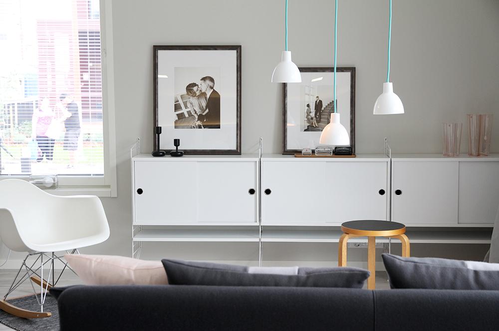 string kaapisto hunajaista asuntomessut design olohuone