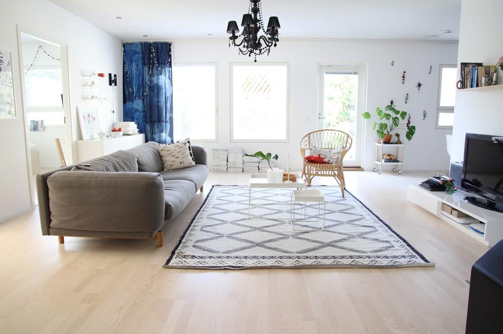 hunajaista olohuone livingroom sisustusblogi sisustus