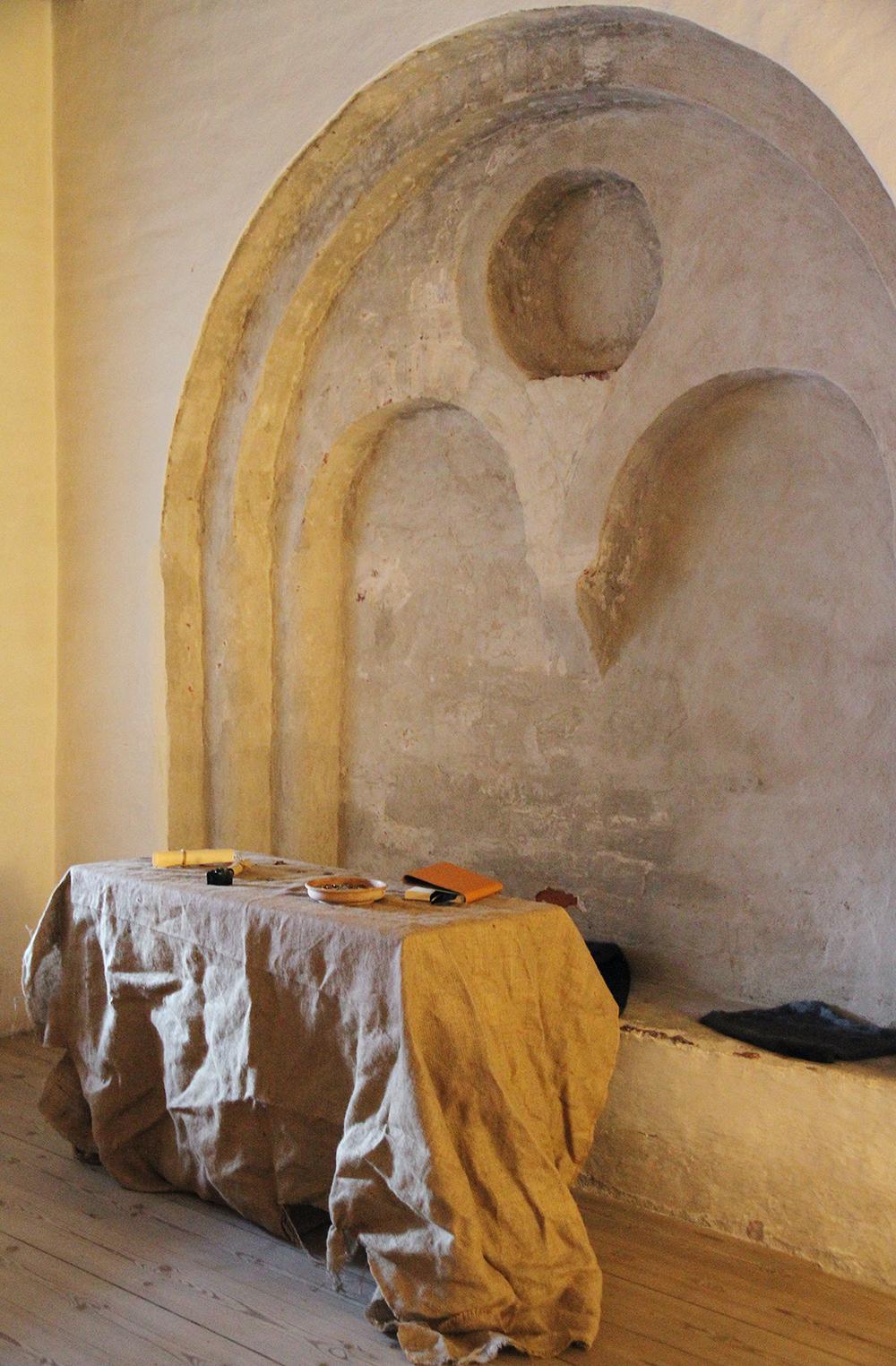 hunajaista hameen linna kirjurinsali