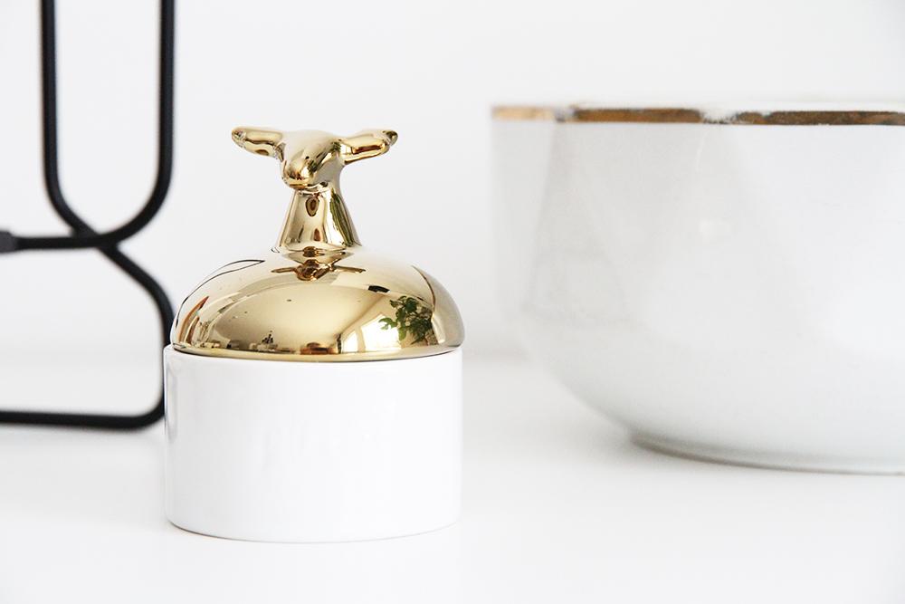 hunajaista ultainen purkki arabian kulho sisustusblogi hay kynttilanjalka