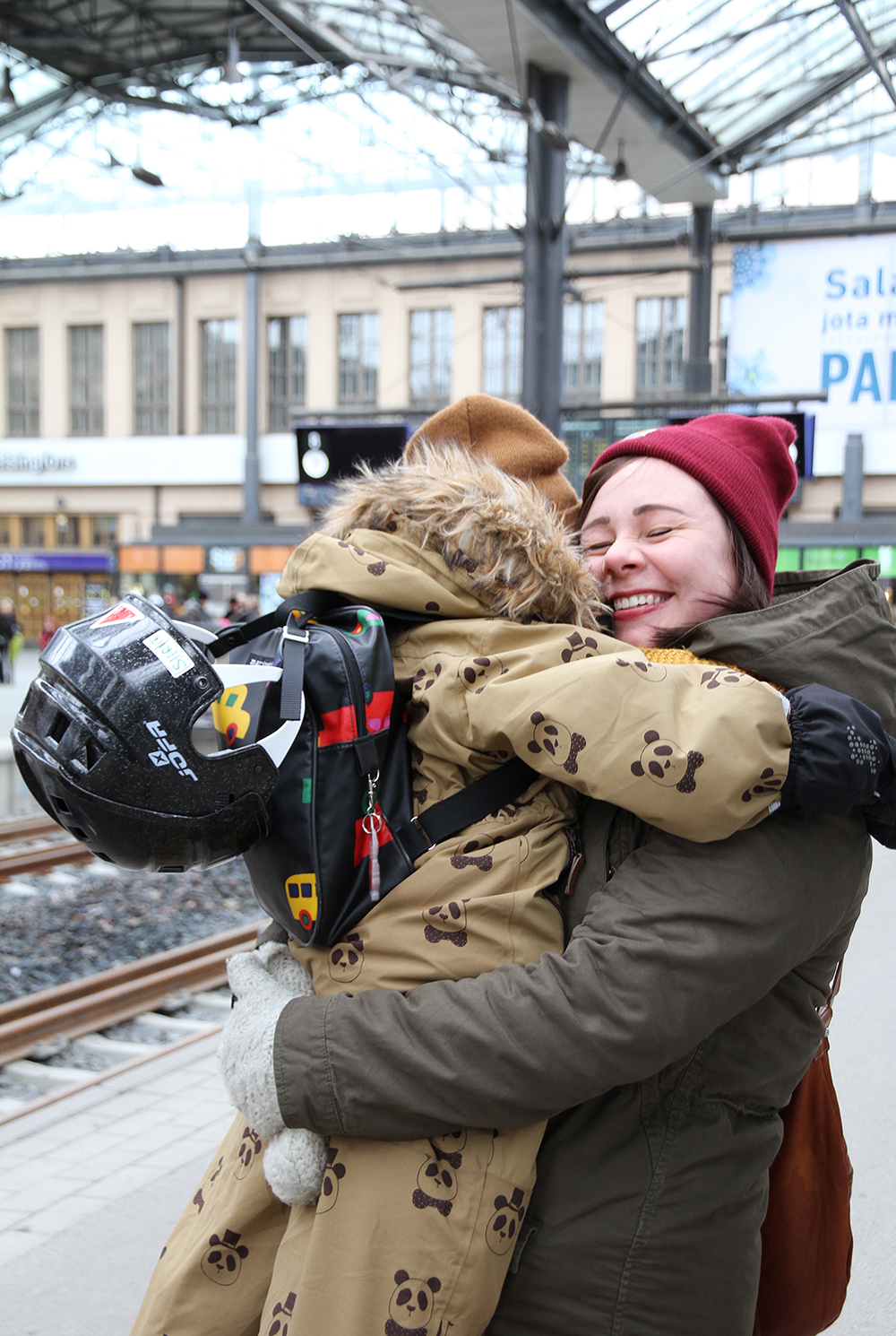 iloinen jalleennakeminen martta siiri hunajaista blogi helsingin rautatieasema