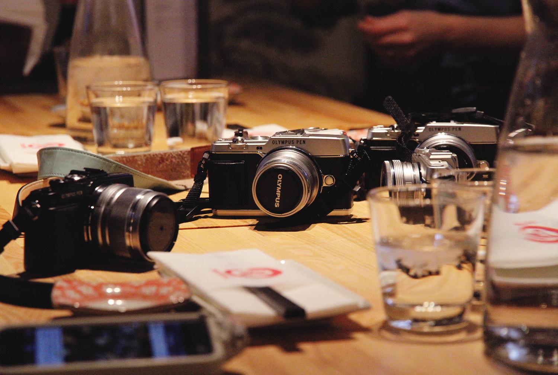 hunajaista olympus pen blogikamera