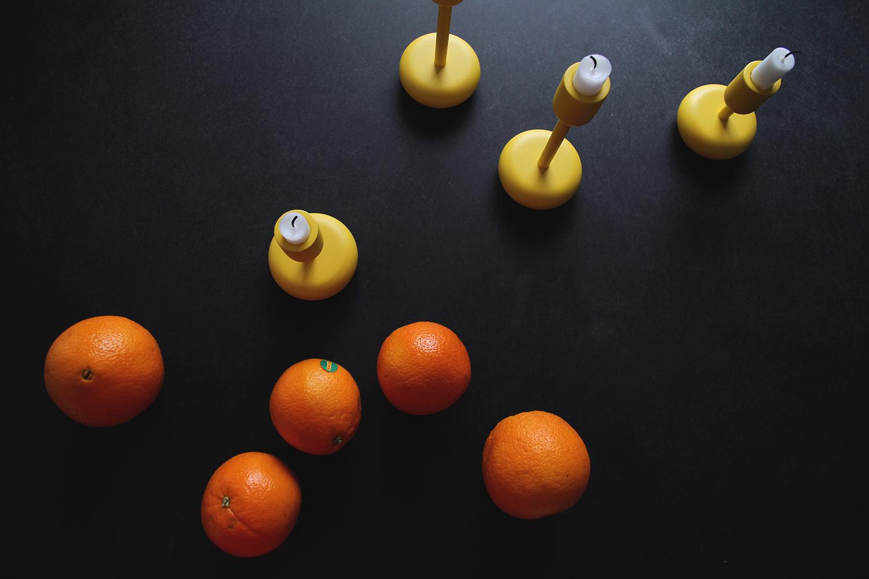 hunajaista appelsiinit nappula iittala keltainen