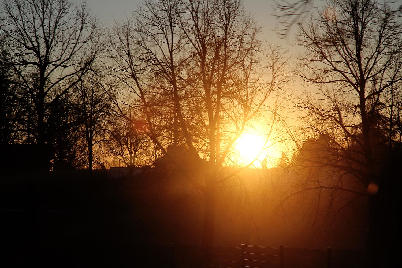 hunajaista auringonlasku