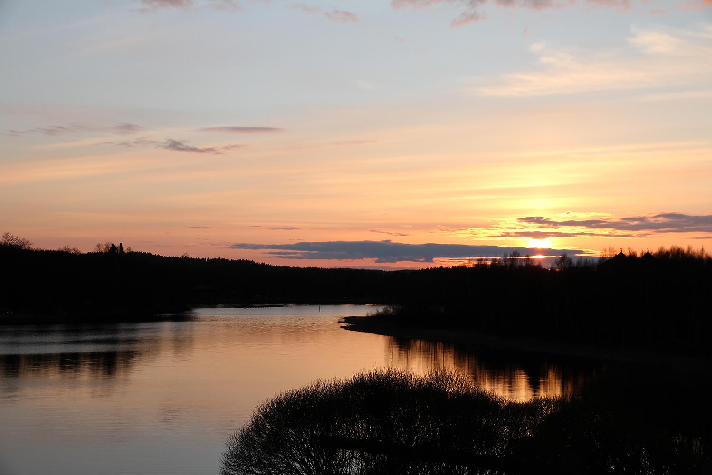 hunajaista auringonlasku kotiparveke vanaja hameenlinna