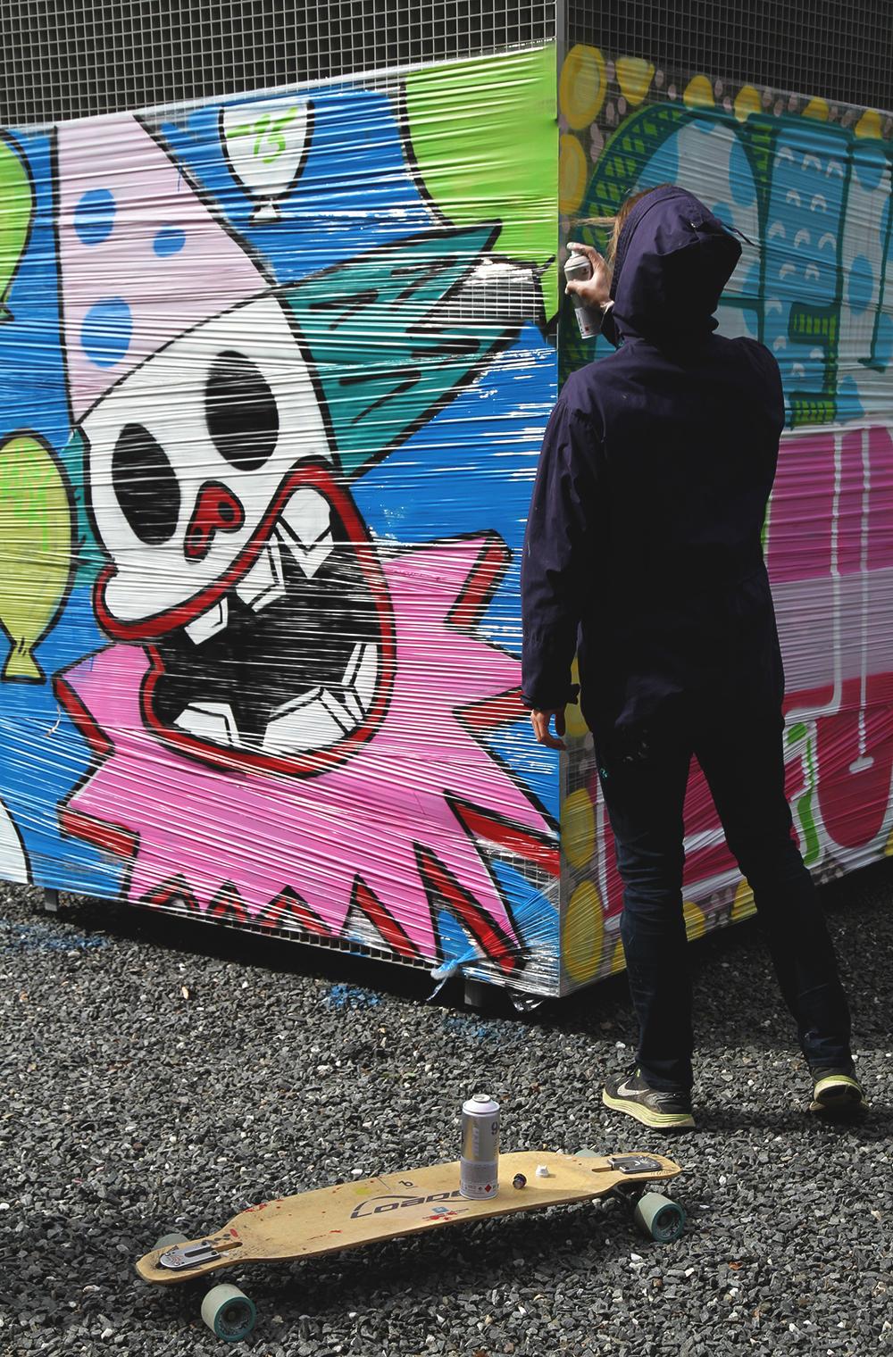 hunajaista verkatehdas vappu graffitit pelle